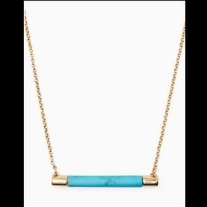 Kate Spade Building Block turquoise bar necklace